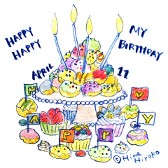 170411誕生日ケーキ バースデー