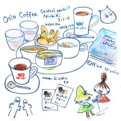 170424oslo coffee オスロコーヒー 名古屋 セントラルパーク 北欧 ムーミン フィンランド フィンランドデザイン展 愛知県美術館 #私のフィンランド