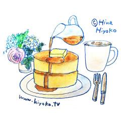 170428パンケーキ 分厚い ホットケーキ