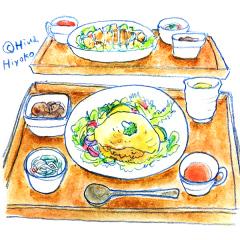170515オムキーマカレー丼 アジアンから揚げ丼