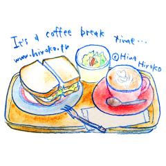 170614 cafe カフェ サンドイッチ サラダ ランチ
