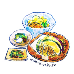 170309和食 肉じゃが 天ぷら