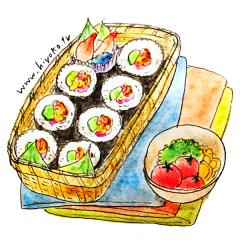 170313巻き寿司 お弁当