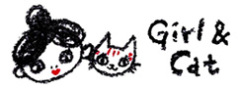赤と黒のネコと女の子の絵日記